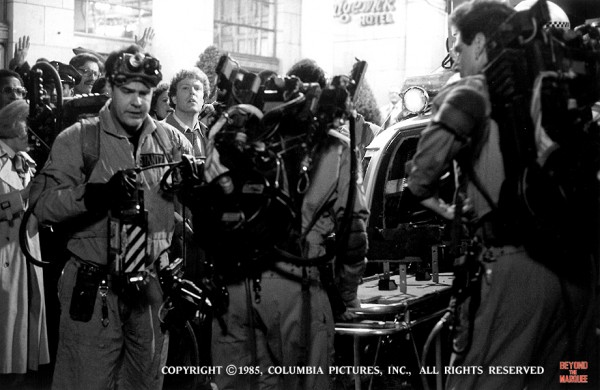 The Ghostbusters gear in action