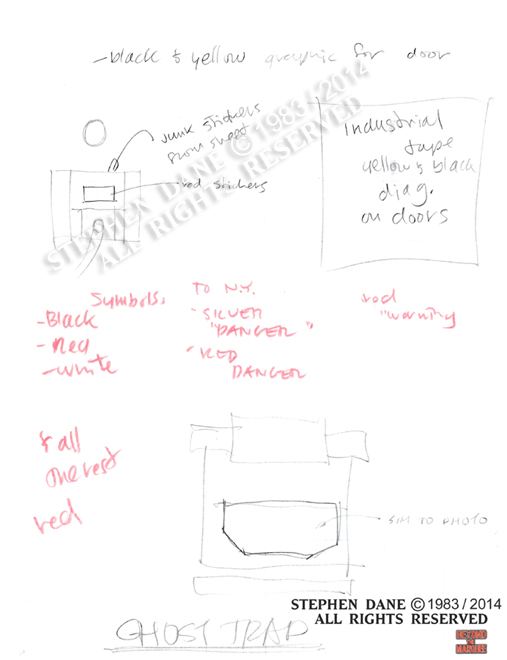 Early sketches of the Ghost Trap