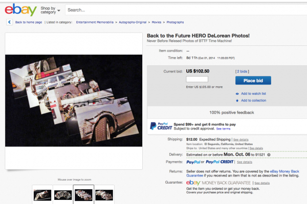 Back to the Future HERO DeLorean Photos!
