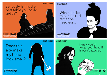 Sleepy Hollow's HEADLESS DAY Digital Post Cards