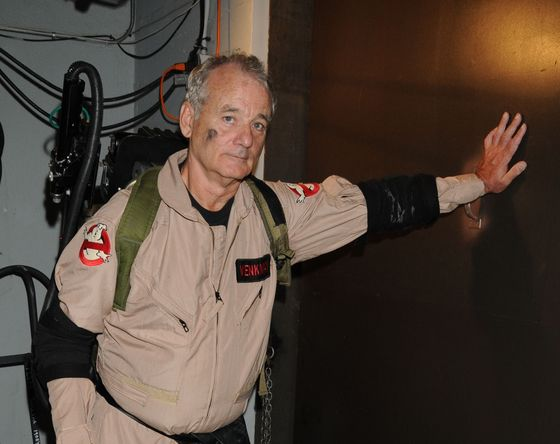Bill Murray gives a glimpse of what could be while backstage at the Spike Scream Awards in 2010.