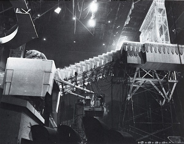The Gozer Temple set on Stage 16 at The Burbank Studios (Warner Bros.)