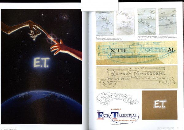 Explorartions for E.T. including alternate title treatments