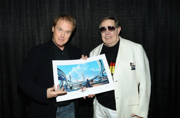 "Brad Bird (L) and Syd Mead attend Walt Disney Studios' 2014 New York Comic Con presentation of ""Tomorrowland"" at the Javits Convention Center on Thursday October 9, 2014 in New York City."