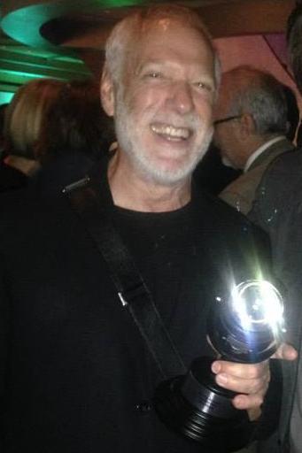 Drew Struzan hols his SAUL BASS Award at the 2014 43rd Annual Key Art Awards in Hollywood