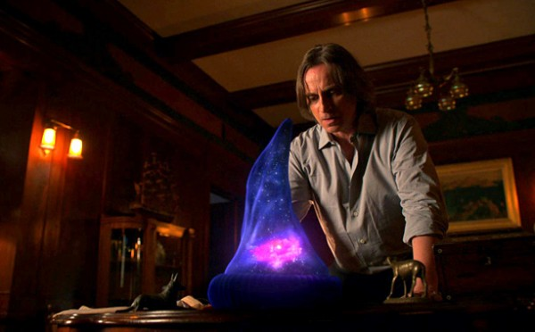 Rumplestiltskin stares into his all powerful Sorcerer's Apprentice hat, which can be used to eliminated magic, what kind of a world would there be without it?