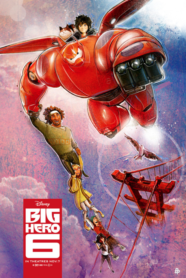 Paul Shipper's fan-art poster for Disney's BIG HERO 6