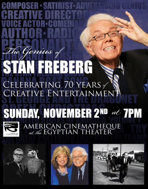 Get your tickets now for this amazing tribute to humorist Stan Freberg!