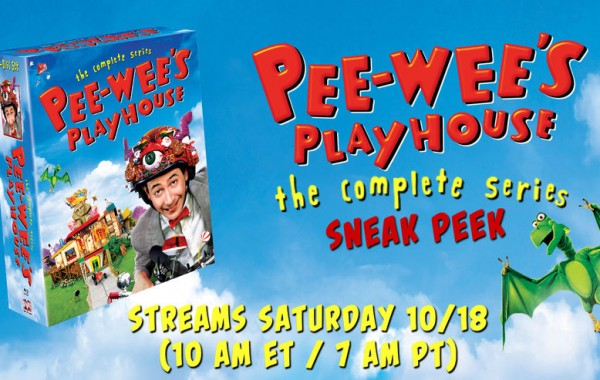 Check back on 10/18 for Pee-wee's Playhouse Saturday Morning Live Stream