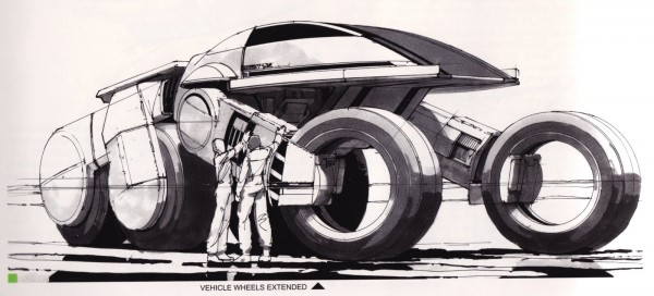 Syd Mead Concept Art from TRON