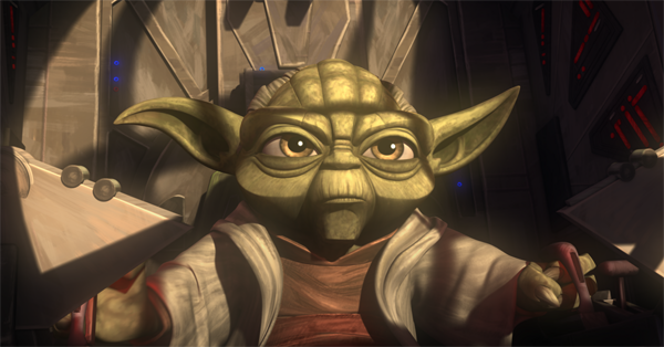 Yoda in a scene from The Lost Missions