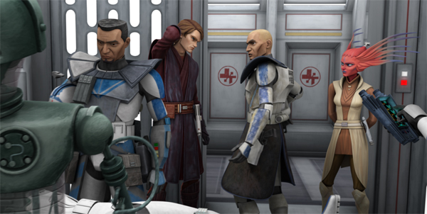 Anakin speaks with Commander Doom in The Lost Missions