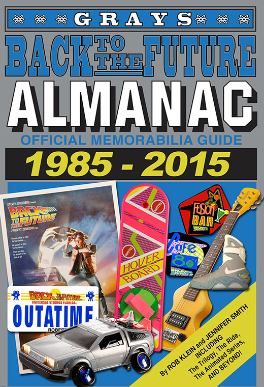 The inside cover to the Back to the Future Almanac