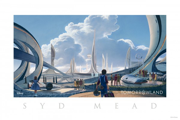Syd Mead's Limited Edition Comic Con Illustration of Tomorrowland City