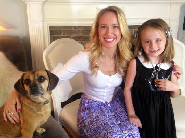 "Anna Camp and Lindalee Rose and Anna's Puggle; ""Rocky"""