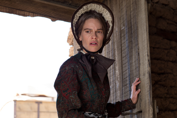 Hillary Swank as Mary in THE HOMESMAN