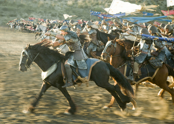 Moses (Christian Bale) leads his army into battle