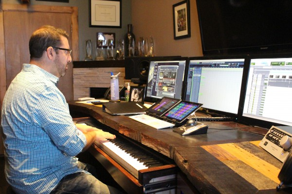 Film/TV Composer Christopher Lennertz working on the score for the latest episode of ABC's Agent Carter