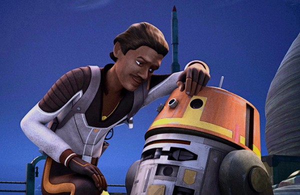 Lando with Chopper