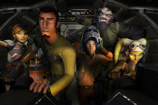 The heroes from STAR WARS: REBELS.