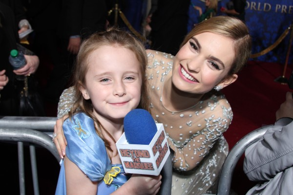 Lindalee and Lily James (Cinderella)