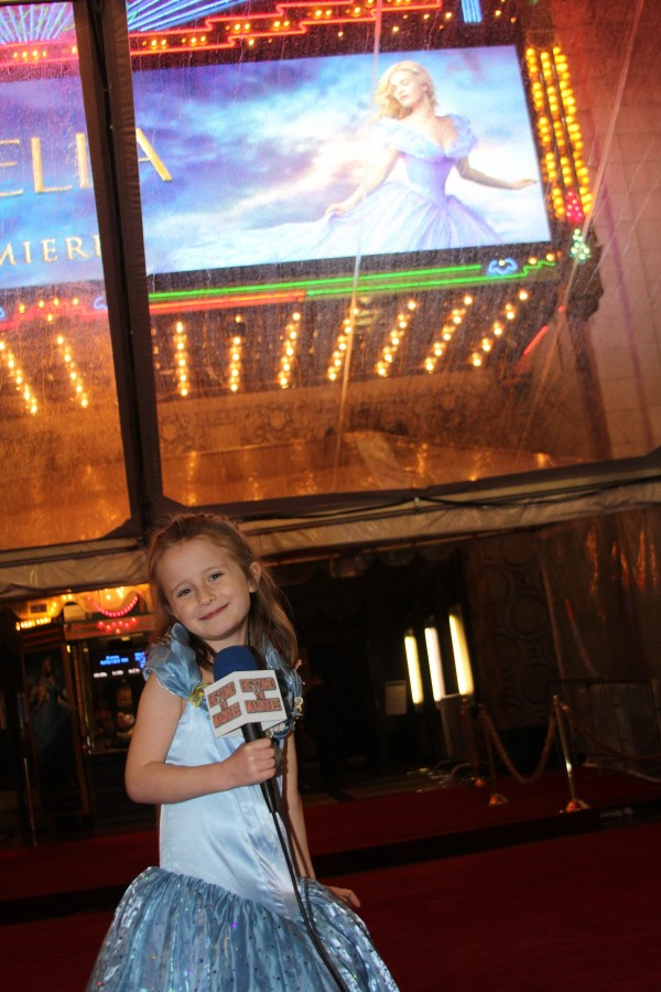 Lindalee in front of the Marquee of the El Capitan theater