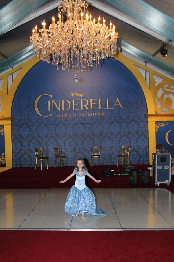 Lindalee, ready for the ball at the World Premiere of Disney's Cinderella