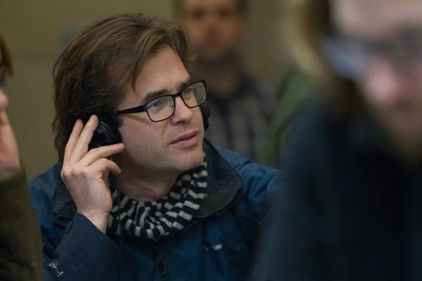 Director Rupert Goold on the set of TRUE STORY