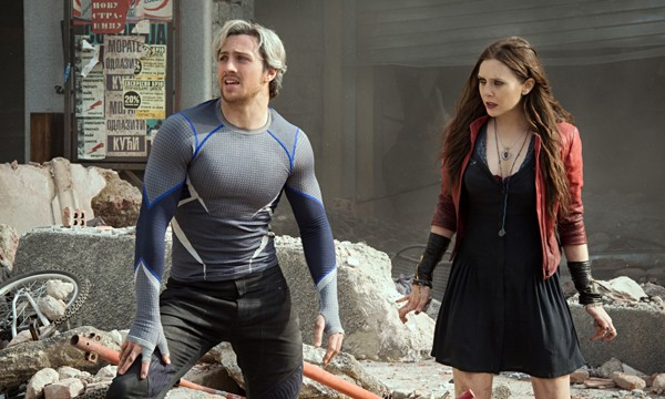 Quicksilver (Aaron Taylor-Johnson) and Scarlet Witch (Elizabeth Olsen)
