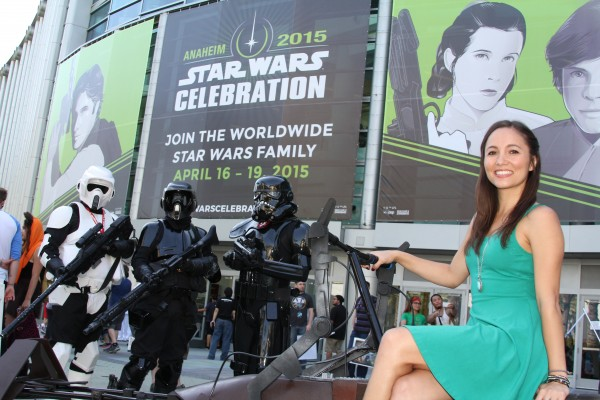 Alyssa Dahlstedt at Star Wars Celebration 2105 in Anaheim