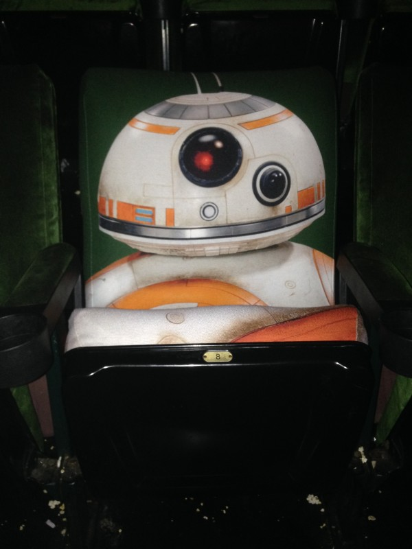 BB-8 Theater Seat, installed in the El Cap theatre