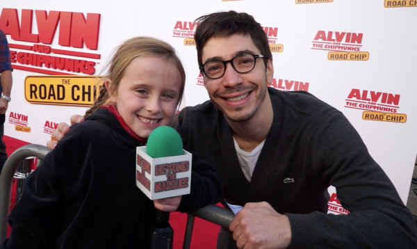 Actor Justin Long (voice of 'Alvin') and Lindalee