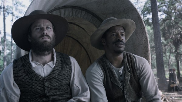 "Nate Turner's ""Birth of a Nation"" debuts at the 2016 Sundance Film Festival in Park City, Utah (pictured; Nate Parker and Armie Hammer)"