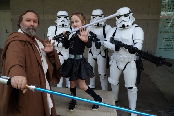 Lindalee Rose, Obi-Shawn, and an order of the 501st at Star Wars Fan Day at FIDM