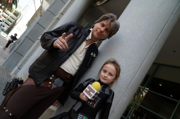 A Han Solo cosplayer from the Rebel Legion and Lindalee Rose