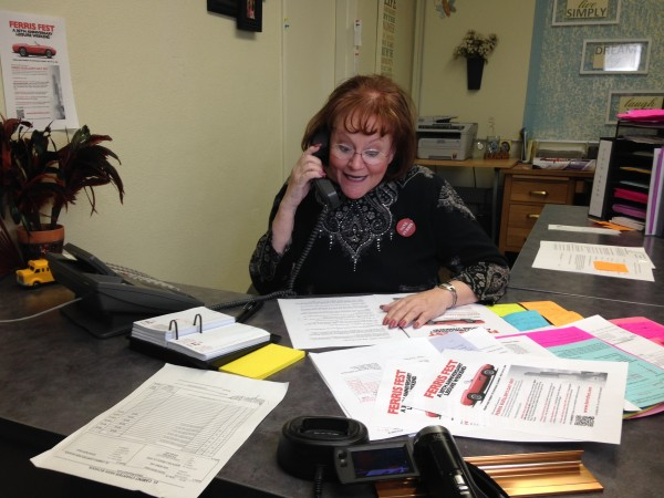 "Instead of answering ""Ed Rooney's Office"", now Grace was greeting callers with ""Ferris Fest Headquarters..."""