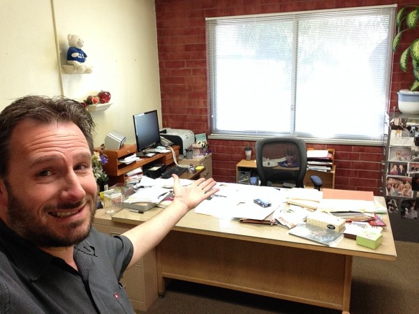 BTM Creative Director/Founder, offers up a view of Edward Rooney's office as it looks today.