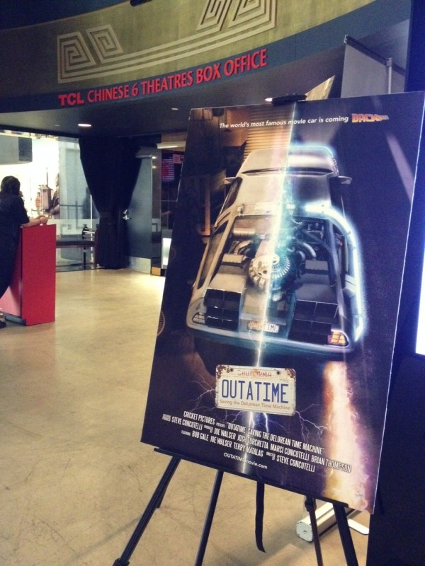 Catch OUTATIME at the Chinese 6 Theatres in Hollywood