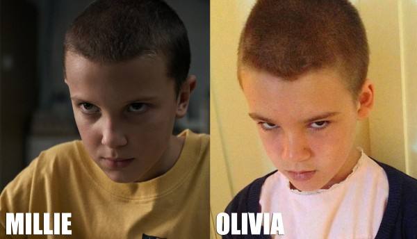 Kudos to Olivia, she totally nailed Eleven's scowl.