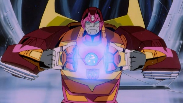 Hot Rod becomes Rodimus Prime via the Matrix of Leadership