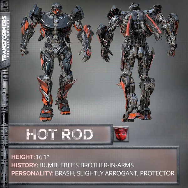 Hot Rod in his robot form in the upcoming 2017 Transformers movie