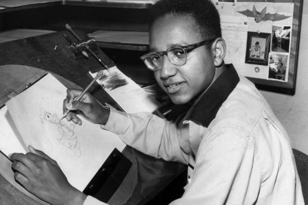 Floyd Norman at Walt Disney Studios in 1956