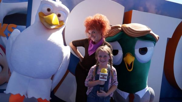 Lindalee at the STORKS World Premiere in Westwood, CA