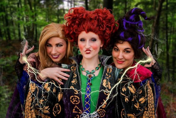 "Amanda Lynne Shafer, Lauren Majestic, and Chrissy Lynn Kyle as the witches from ""Hocus Pocus"", which is always a hit at comic cons."