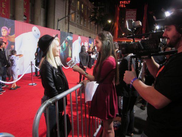 Alexa Weisner on the Red Carpet for Disney's BIG HERO 6