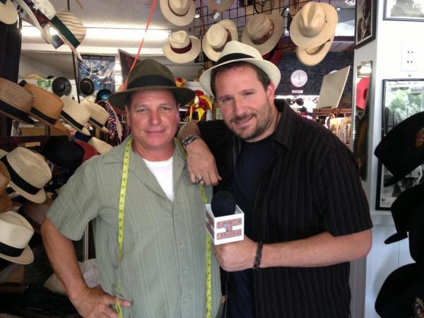 Baron Hats President Mark Mejia and Beyond the Marquee Host/Founder Steve Czarnecki.