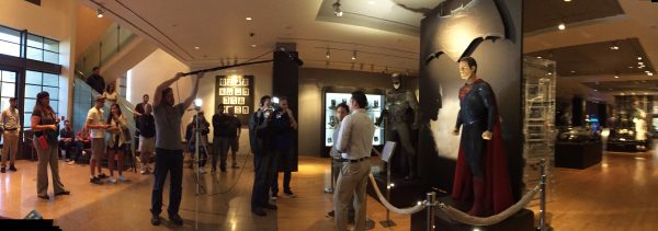 The BTM Crew Behind the Scenes with Andy Cohen and John Kourounis at the Batman Dark Knight exhibition