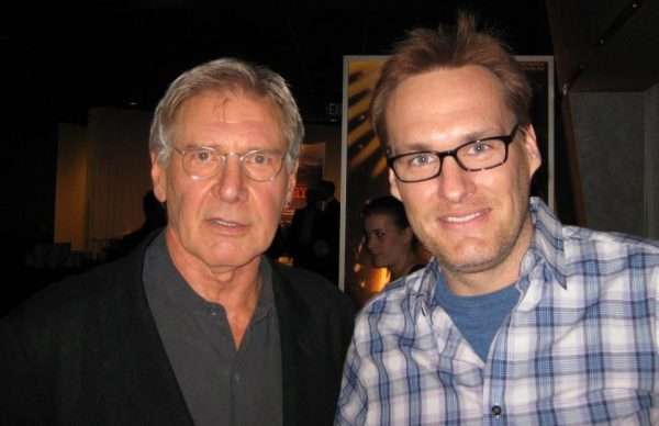 Harrison Ford and Beyond the Marquee's Jon Donahue at the AFI Lifetime Achievement Awards.