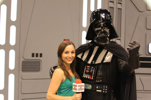 Alyssa Dahlstedt and Darth Vader at Star Wars Celebration