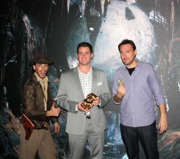 (L to R) AJ Locascio, Dan Nasitka, Jon Donahue at the Indiana Jones Exhibit